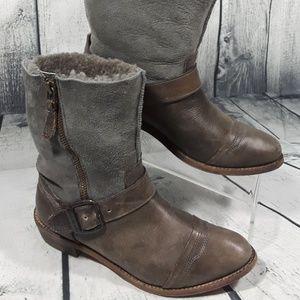 Koolaburra Women Short Winter Boots Zip Buckle 7.5